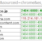 GoogleChome/Firefox でIPv4/IPv6どちらで接続されているのか確認できる拡張memo