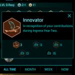Ingress 2周年記念メダル「Innovator」が配布開始。