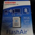 「ユピテル・AMZ93SD」にFlashAirを装備。無線機能が使用可能に