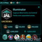 獲得MUが実績となる「Illuminator」メダルが登場。CFの作成がはかどる  #ingress