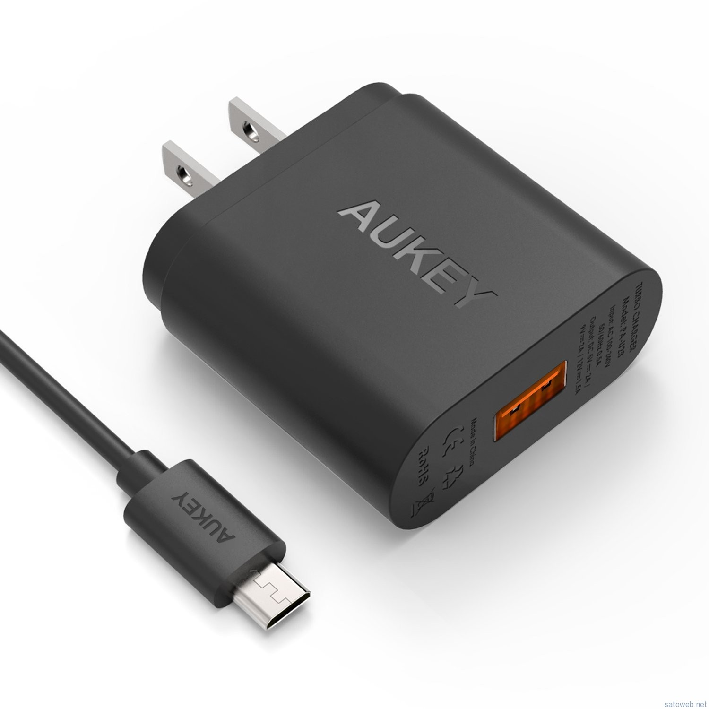Aukey PA-U28 Quick Charge 2.0超急速充電対応充電器がタイムセール特価。330限で 1590円也!