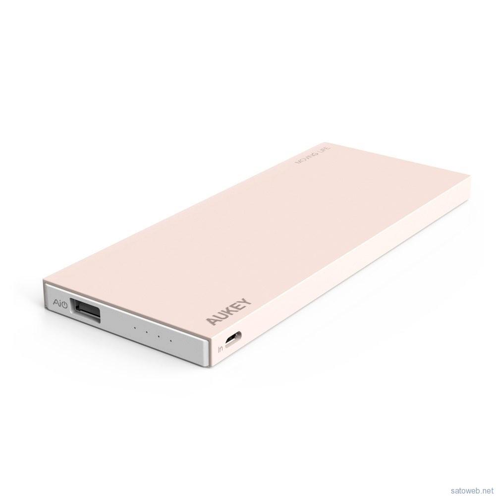 Aukey AIPower 薄型モバイルバッテリーがタイムセール!