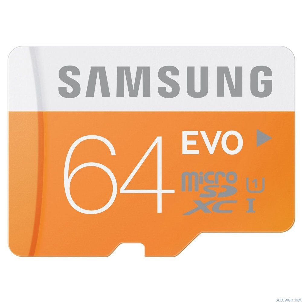 SAMSUNG 64GBMicroSDカードが特選商品特価! 本日限定で2624円也!