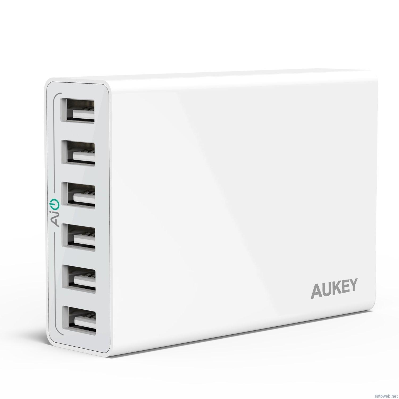 Aukey、6ポート50W USBチャージャーがタイムセール特価!