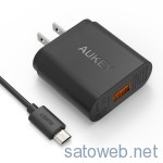 Aukey,QuickCharge2.0対応USBアダプタがタイムセール特価!
