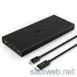Aukey モバイルバッテリー 16000mAh Power Bank PB-Y2 (ブラック)を購入してみた。