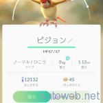 質量0㎏のポケモンあらわる。 ぽっぽを進化させたら「0Kg」のピジョンが現れた!  #PokémonGo