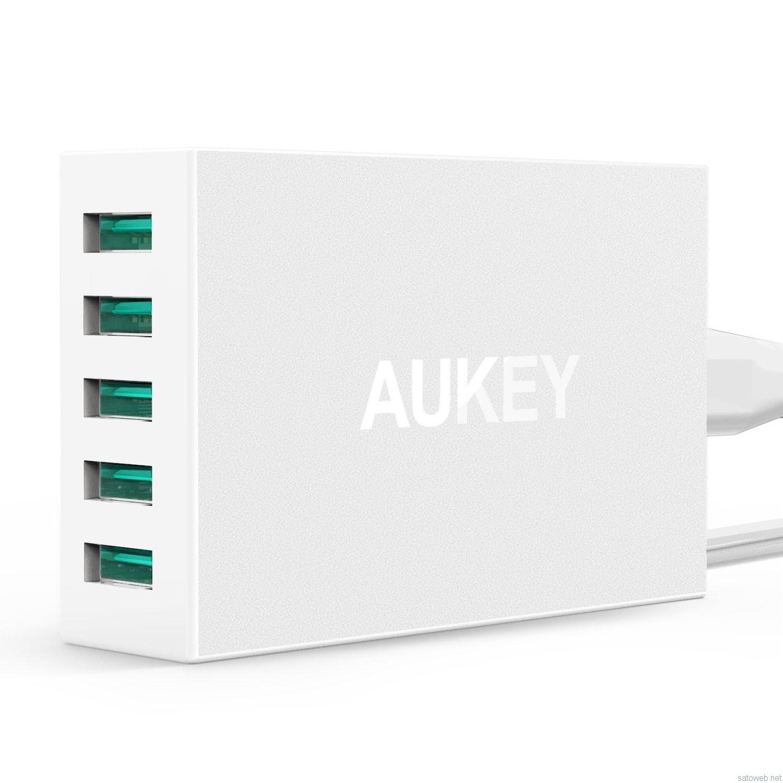 AUKEY 50W/5ポートUSB充電器  PA-U33がタイムセール対象