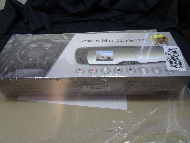 DBPOWER バックミラー型ドライブレコーダーを試す。