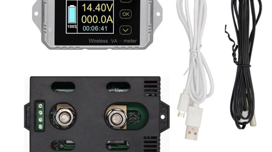 サブバッテリーの電流計を電圧計付に更新してみた。