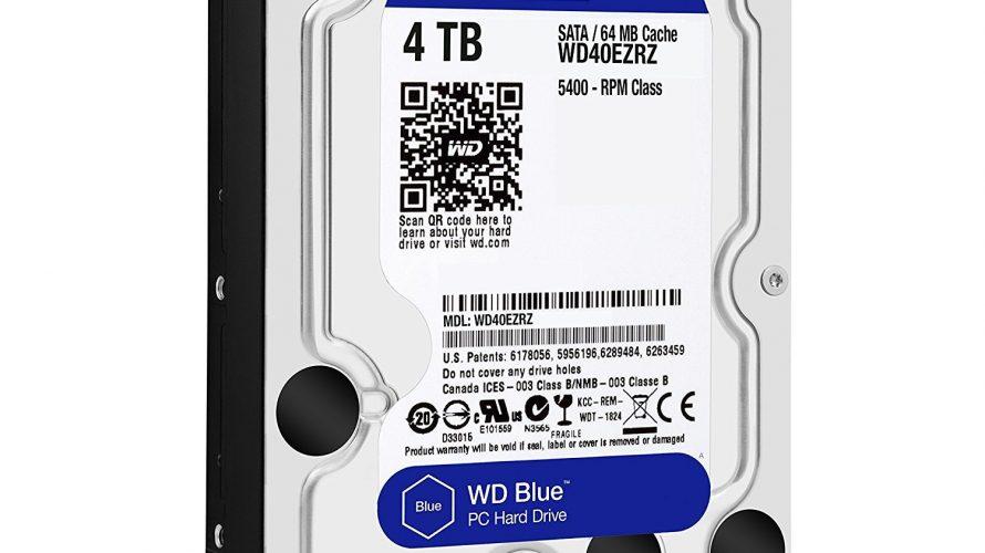 Western Digital  内蔵ハードディスク 3.5インチ 4TB WD Blueに二割引クーポン、ただし適用は1台限り