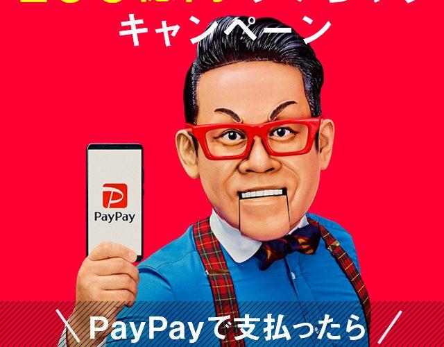 Paypay「100億あげちゃう」キャンペーン が12/13で終了。