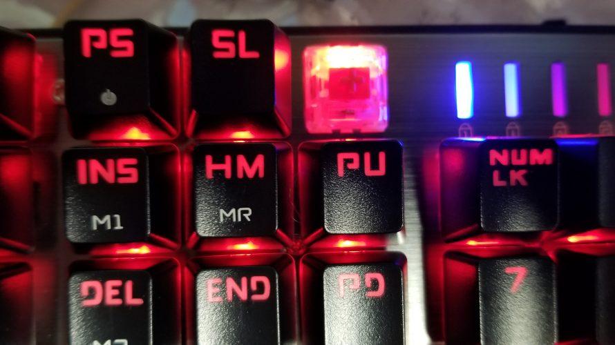 LEOBOG、赤軸キーボードがチャタリングしはじめたので 赤軸を唄うものに買い替えてみた。