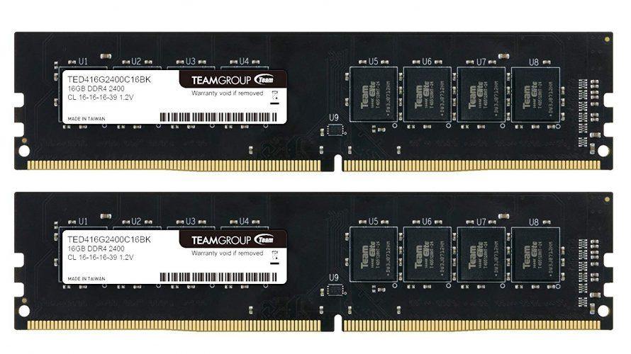 【Amazon】TEAM DDR4 PC4-19200 DDR4 が特選タイムセール対象に。16GBkitで7800円なり。