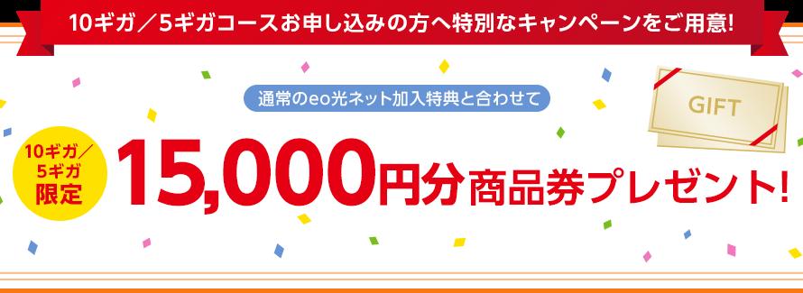 キャッシュバックは最高だぜぇ eo光10Gb加入特典の商品券が届いた。